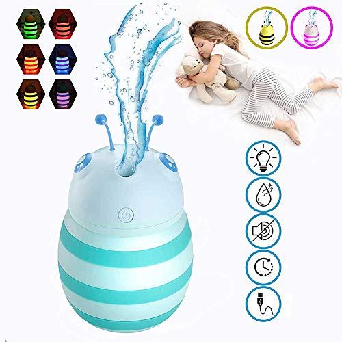 JKLJKL Kindernachtlampje, Kinderbevochtiger en Babykleur Veranderend Licht, Mute en Draagbaar met Auto-Off Functie.