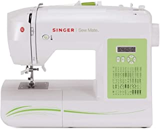 SINGER | Sew Mate 5400 Handy Sewing Machine Including 60 Built-in Stitches, 4 Fully Built-in 1-Step Buttonhole, Automatic ...