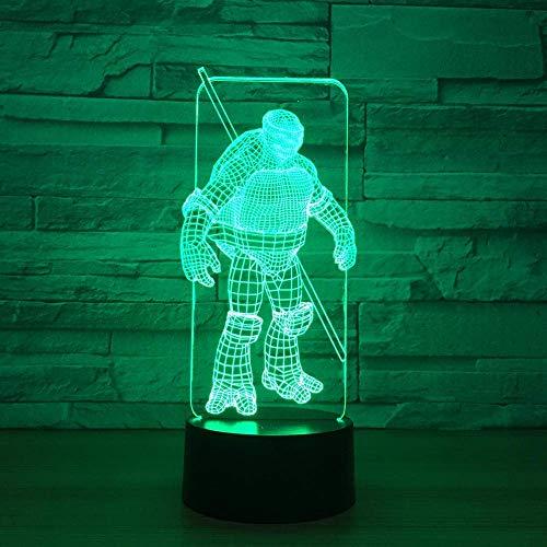 3D Led Symphony Lights Warrior Night Light Gabinete De Noche Óptico Iluminación...