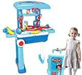 Jack Royal Doctor Play Set Case Workbench 2 in 1 Doctor Nurse Medical