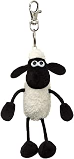 Shaun the Sheep Plush 61176 Backpack Clip, Black and White, Great Gift Idea