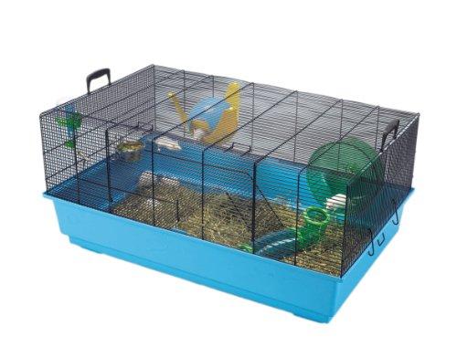 SAVIC Mickey 2x l azul marino azul Ratón y Enano hámster jaula 80x 50x 38cm