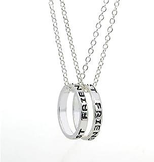 comprar comparacion EQLEF alean el Anillo Simple de la Plata Mejores Amigos Forever el Collar de la Amistad - el Collar del Regalo de la Amist...