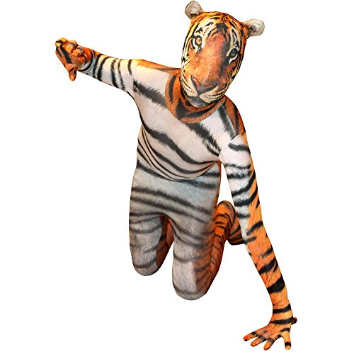 Morphsuits KLTIL - Tiger Animal Planet Kinder Kostüm, 137-152 cm, Größe L