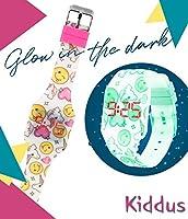 Orologio digitale a LED KIDDUS per bambini, ragazze, adulti. Cinturino comodo in morbido silicone. Batteria giapponese lunga durata. Facilità di lettura e apprendimento dell'ora. #5