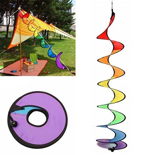 HENGSONG Wind Spinner Hanging Spinner Spiral Garden Outdoor Decor Colorful