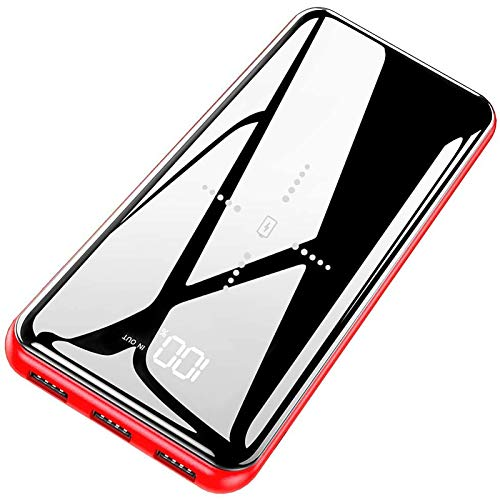 Gnceei Power Bank 25000mAh Caricabatterie Portatile Wireless - Alta capacità con 3 Uscite USB e 2 Ingresso, Batteria Esterna Compatibile con Smartphones, Tablet e Altri Dispositivi …