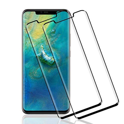 Wiestoung Panzerglas Schutzfolie für Huawei Mate 20 Pro, [2 Stück] [Volle Bedeckung] [Anti-Kratzer] [Anti-Öl] [Blasenfreie] [HD-Klar] Panzerglasfolie Displayschutzfolie für Huawei Mate 20 Pro