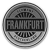 Impresionantes pegatinas de vinilo (juego de 2) 30 cm BW – Frankfurt Alemania Deutschland Divertidos calcomanías para portátiles, tabletas, equipaje, reserva de chatarras, neveras, regalo genial #40504