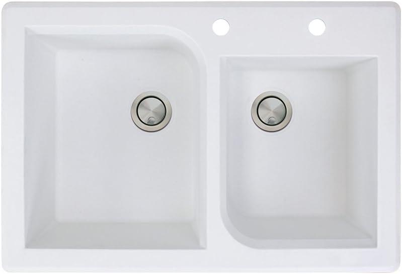 Transolid RTDO3322-01-AC Granite Cheap bargain Double-Bowl x Wholesale 33