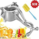 CAYOREPO Manual Fruit Juicer With 1 Pcs Sponge Brush,Quality Alloy Heavy Duty Press Easy Use Fruit Hand Squeezer Fruit Juicer Extractor Tool