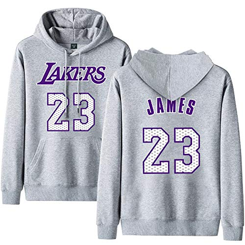 Lakers James 23 Kapuzenpullover, Frühling und Herbst Winter Kapuzenpullover Basketball-Pullover 2-6XL