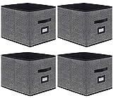 homyfort Caja de Almacenaje Set de 4 Cajas de Juguetes, Caja de Tela para...