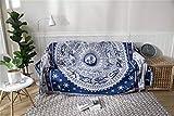 Manta Protectora para sofá, Morbuy Manta de sofá Cálida y Gruesa Manta de Hilo de algodón Suave Sofá A Prueba De Polvo Manta De Liviana for Cama o sofá (90 * 210 cm,Constelación)