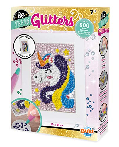 Buki France- Be Teens Glitters-Unicorno Gioco Pittura Diamanti, Multicolore, DP002