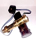Ganga Nautical Marrone Ottone Antico Nautico - 40,6 cm Telescopio Antico Spyglass Replica in Scatola di Pelle Tenuto in Mano Spy Glass Sailor s Décor