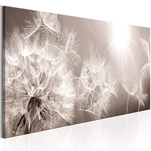 decomonkey Bilder Pusteblume 150x50 cm 1 Teilig Leinwandbilder Bild auf Leinwand Vlies Wandbild Kunstdruck Wanddeko Wand Wohnzimmer Wanddekoration Deko Blumen