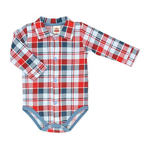 Makoma MAKOMA Baby Body-Hemd Langarm Größe 68 74 80 86 92 (74, rot)