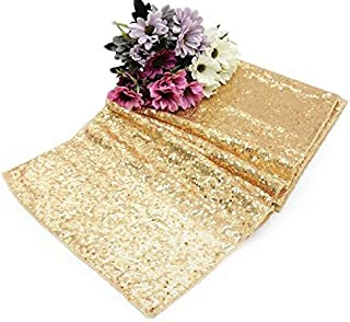 Angelsun 1pcs Sequin Table Runners Rose gold/gold/silver/champagne12 x108 for Wedding Party Christmas Table Runner Tablecloth Decoration