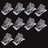 SKEMIX Nail Tips Clip for Quick Building Polygel nail forms Nail clips for polygel Finger Nail Extension UV LED Builder Clamps Manicure Nail Art Tool