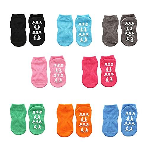 Calcetines de algodón antideslizantes calcetines de trampolín parques atracciones para niños calcetines de juego para padres e hijos calcetines deportivos para adultos 8 pares-O color_35-43EUR