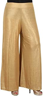 Women's Viscose Golden Palazzo for All Plus Size and Small Size