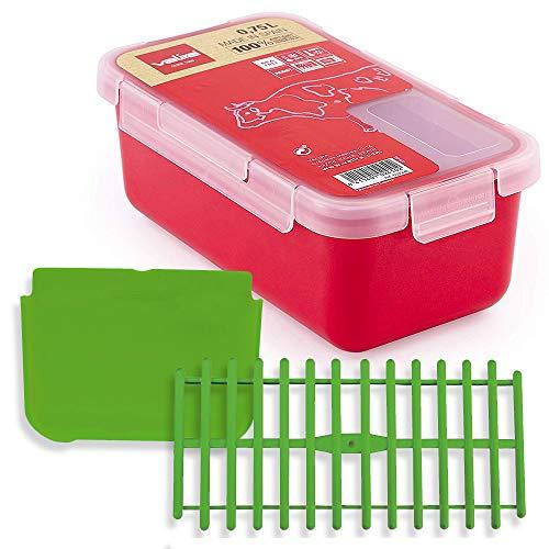 Set Taper plastico Valira 0,75 L Frambuesa + Separador + Rejilla