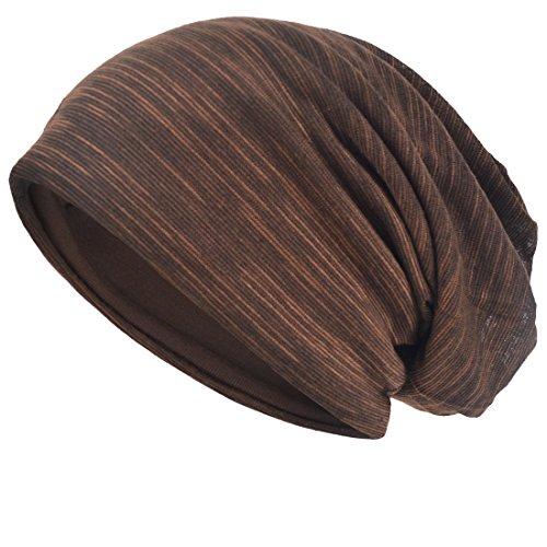VECRY VECRY Herren Slouch Hollow Mütze Thin Sommer Cap Strickmützen Beanie Skullcap (Braun)