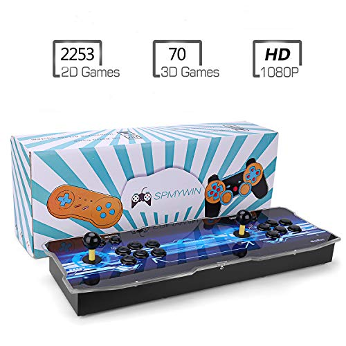 Spmywin 3D Pandora's Key 7 Arcade Video Game Console 1080P Game System Support Expand 2D 3D Games Function Advanced CPU Mini Arcade Come with a 32G U Drive(Not Including Games)