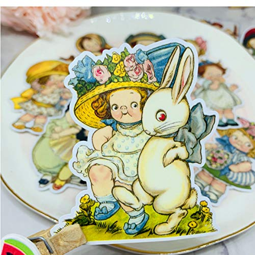 ZFHH 13PCS vitage dolly Stickers Crafts And Scrapbooking stickers book Student label Decorative sticker DIY Stationery