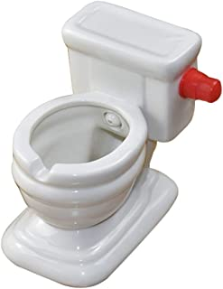 JYH-U Unique Weird Ashtrays, Creative Toilet-Shaped Ashtrays, Ashtrays That Can Store and Flush Water,Funny Decoration
