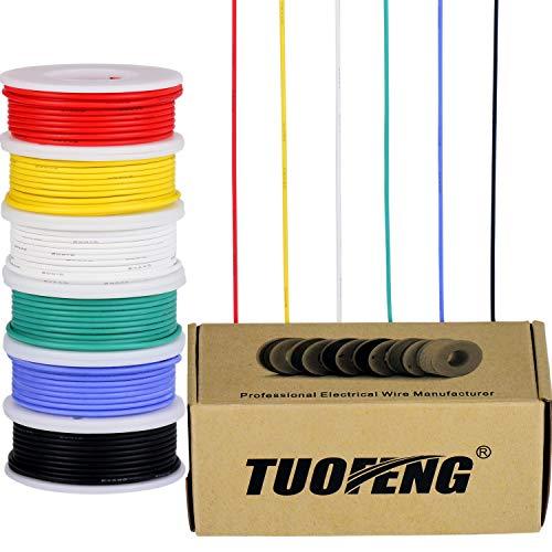 Cable eléctrico calibre 22, cable de cobre estañado 22 AWG Cable flexible...