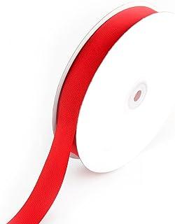 Creative Ideas 7/8-Inch Solid Grosgrain Ribbon, 50-Yard, Red