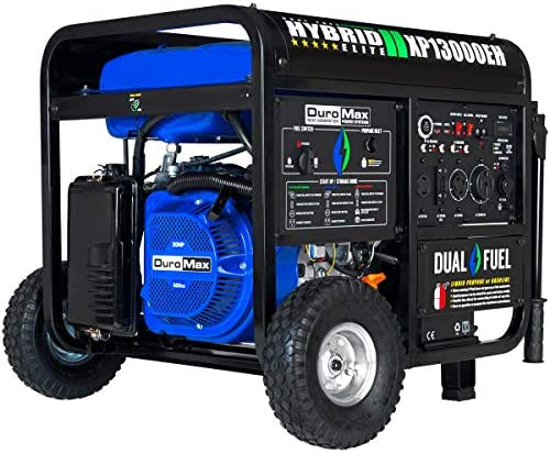 DuroMax XP13000EH Dual Fuel Portable Generator 13000 Watt Gas or Propane Powered Electric Start product image