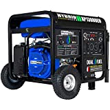 DuroMax XP13000EH Dual Fuel Portable Generator 13000 Watt Gas or Propane Powered-Electric Start-Home Back Up, Blue/Gray