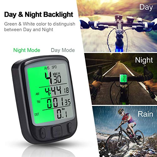 urbetter Computer di Bicicletta,Ciclocomputer Impermeabile con Display Retroilluminato Sensore di Movimento All'aperto in Bicicletta in Tempo Reale velocità su Pista Automatic Wake-up