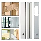 Window Seal Plates Kit for Portable Air Conditioners, Plastic AC Vent Kit for Sliding Glass Doors and Windows - Adjustable Length Panels for Exhaust Hose