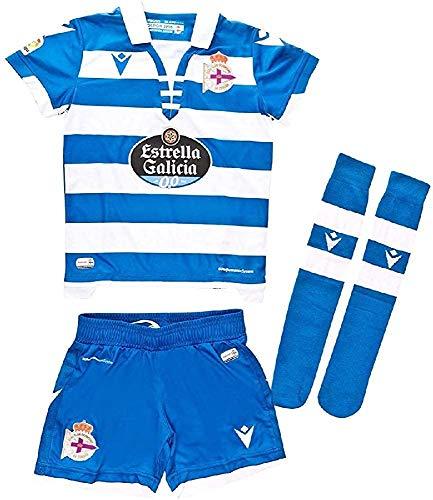 RC Deportivo Kit Infantil 1ª Equipación 2019/20 Camiseta, Niños, Azul, JXXS (3-4 años)