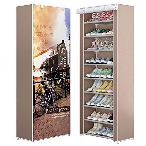 Sue-Supply Zapatero de 9 niveles de lona, zapatero de lona para zapatos, zapatero de pie y zapatos, organizador de zapatos, 6030160 cm