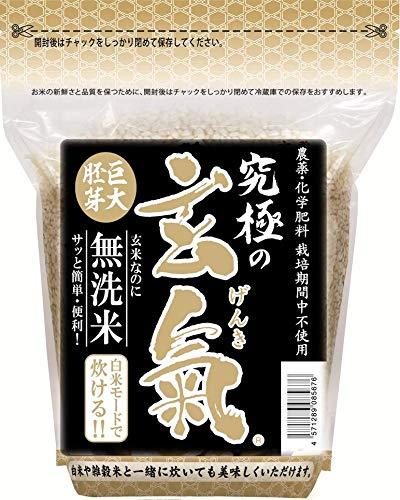 無農薬の巨大胚芽の発芽玄米 究極の玄氣 1.5�s(真空パック)