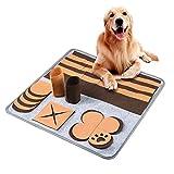 Furpaw Tappeto Olfattivo Cane, Tappetino Interattivi Giochi per Cani per Foraggiamento Abilità per Addestramento – Marrone