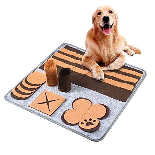 FurPaw Alfombrilla para Perros Juguetes Snuffle Oler Alimentación Alfombra Perro Comida Entrenamiento Alfombrilla Juguetes Puzzel Gatos Perros Cachorro Mascotas   Marrón