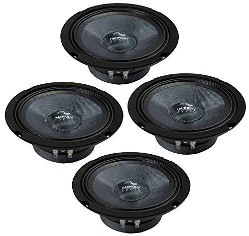 "Harmony Audio HC-CMB65 Car Stereo Cabron Midbass Midrange 6.5"" Speakers - 2 Pair"