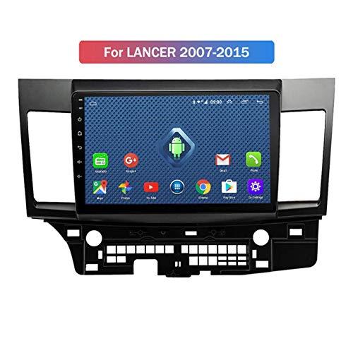ZHANGYY Navegación GPS 4G 3G WiFi Sistema Multimedia ultradelgado para automóvil Compatible con Mitsubishi Lancer 2007-2015 Soporte Sn Mirror Link/Llamadas Bluetooth/AUX/USB Quad Core Android