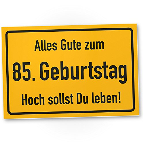 DankeDir! 85. Geburtstag Stadtschild - Kunststoff Schild, Geschenk 85. Geburtstag, Geschenkidee Geburtstagsgeschenk Fünfundachtzigsten, Geburtstagsdeko/Partydeko/Party Zubehör/Geburtstagskarte