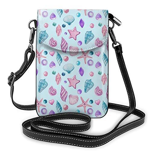 Bolso Crossbody del monedero del teléfono celular de la estrella de mar, bolso del teléfono, monedero de la cartera del teléfono celular del