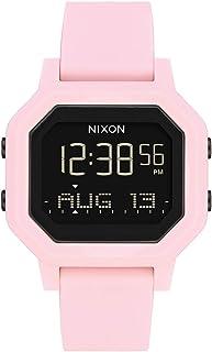 ساعة رياضية رقمية للسيدات مقاومة للماء من NIXON Siren A1311-100m (وجه الساعة 38 مم، 18 مم - 16 مم Pu/مطاط / سيليكون) - مصن...