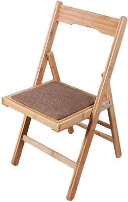 GAOLI del Amortiguador de Doble Cara Mazza sillas Plegables portátil Pequeña Silla de bambú sólido pequeño