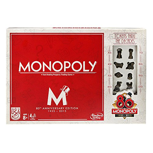 Hasbro B0622103 - Monopoly, 80essimo Compleanno [Parent]