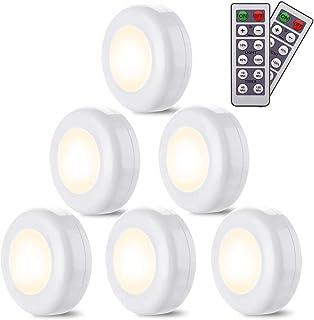 LED under skåp belysning Elfeland garderob garderob skåp lampor 4 000 K natur vit dimbara batterier driven trådlös nattlam...